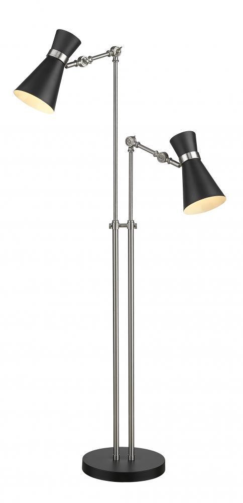 2 Light Floor Lamp 728fl Mb Bn Living Lighting Oakville
